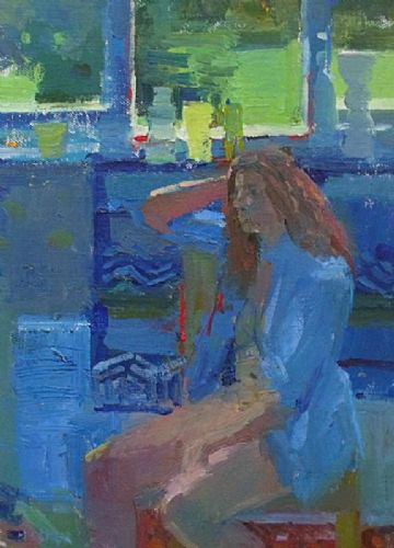Bo Hilton Original Oil Painting Portrait Of A Woman By The Window